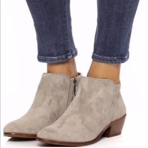 Sam Edelman Suede Tan Ankle Boots